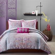 paisley grey hot pink girl s bedding twin xl full queen comforter set pillow