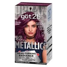 Splat Hair Dye Timing Chart Got2b Color Metallic Permanent Hair Color