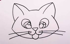 easy cat face drawing. Plain Cat Cute Kitten Drawing Lesson  Easy Cat For Kids To Draw Step By Throughout Face