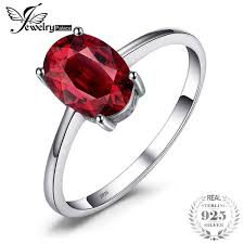 2018 <b>Jewelrypalace 1.6ct Pure Red</b> Garnet Solitaire Ring For ...