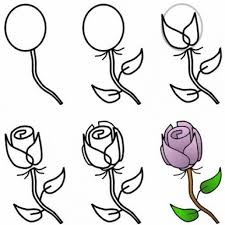 drawing roses step by step   How to draw a rose step by step with pencil