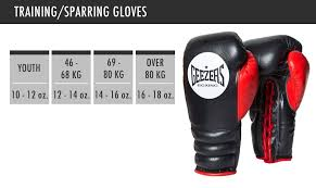Boxing Glove Size Chart Size Guide