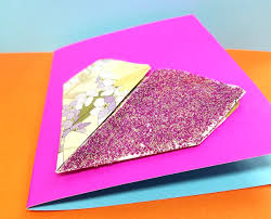 make this sweet little origami heart card craft an easy and fun paper craft for