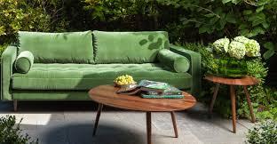 Grass Couch Green Velvet Tufted Sofa Upholstered Article Sven Modern