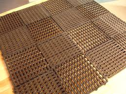 rubber mesh material is flexible this flooring option