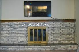 whitewashing brick fireplace whitewash paint for brick paint brick fireplace white