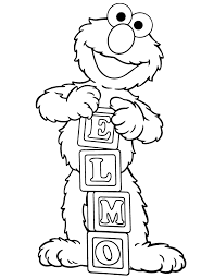 Small Picture Elmo Number Coloring Pages Coloring Pages
