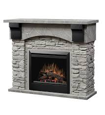 electric stone fireplace