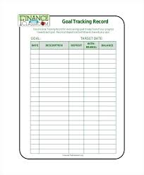 Goal Tracking Record Free Format Download Template Iep Form