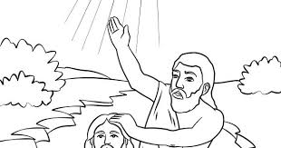 Jesus Being Baptized Coloring Page John The Baptist Coloring Page