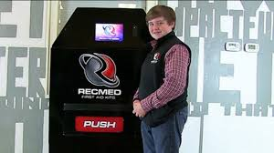 First Vending Machine Dispensed Gorgeous 48YearOld Entrepreneur Raises 48K To Create FirstAid Vending