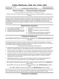 Nurse Educator Resume Sample Sample Resume for Clinical Nurse Educator New Nurse Trainer Resume 14