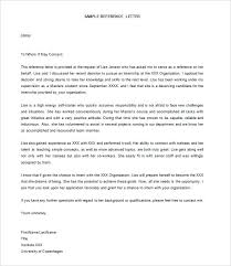 Letter Of Recommendation For Letter Of Recommendation For Babysitter Reference Letter For