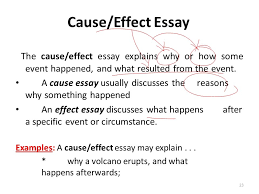 outline of cause and effect essay co outline