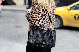 ina engman outfit leopard coat proenza schouler