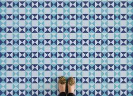blue diamond geometric triangle flooring blue feet vinyl