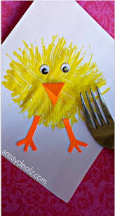 easter projects for toddlers pinterest. make a chick craft using fork. easter crafts for kidseaster projects toddlers pinterest