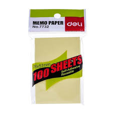 Deli No 7732 Sticky Notes 12pcs Pads Flipchart Papers