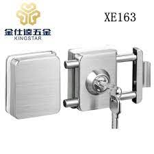 glass door cylinder key lock for double