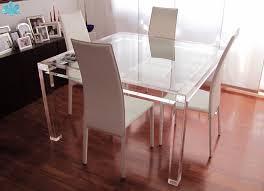 modello lv1 tavolo traspae acrylic diningtable plexiglass plexiglass desk