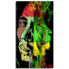 Us 5 7 5 Off Reggae Bob Marley Rasta Lion Wallpaper Art Canvas Poster Painting Wall Picture Print Modern Home Bedroom Decoration Framework Hd In