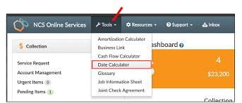 Online Cash Flow Statement Calculator Ncs Online Services Tip 100 Date Calculator Ncs Credit