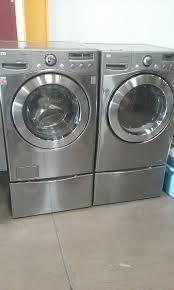 Gas Washers And Dryers Stainless Steel Lg Tromm Front Load Washer And Gas Dryer Set