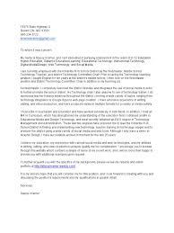 Stacey Kramer Cover Letter Educational Technology Digital