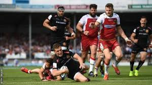 joe simmonds added six conversions to his first half try to help exeter run out comfortable winners