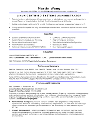 Linux Resume Template Sample Resume For A Midlevel Systems Administrator Monster 4