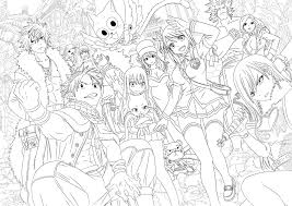Small Picture Fairy Tail Anime Coloring Pages Miakenasnet
