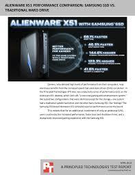 Hard Drive Performance Chart Alienware X51 Performance Comparison Samsung Ssd Vs