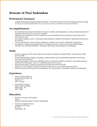 6 Professional Summary For Resume Skills Based Resume