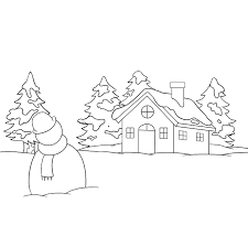 Winter Pictures To Draw How To Draw A Winter Scenery Really Easy