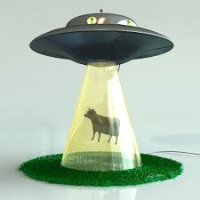 I so want this alien abduction lamp! (It sure beats the alien probe  flashlight