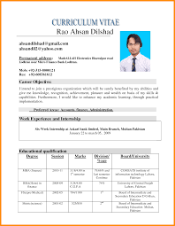 Cv Format In Ms Word Famous Photos Pakistan Resume Examples How Open