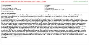 Sample Cover Letter And Template Ideal Educational Technology