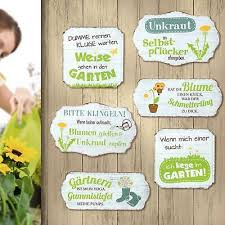 Metall Schild Hängeschild Weisheiten Sprüche Thema Garten Frühling