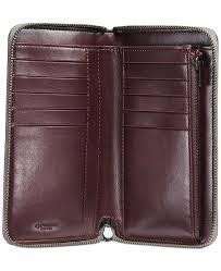 COACH Medium Zip Around Wallet with Prairie Rivets - Handbags ...