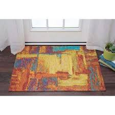 contemporary area rug dynasty orange and pink 5 ft x 7 ft contemporary area rug