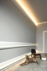 indirect wall lighting combine cove and raised panels for ...