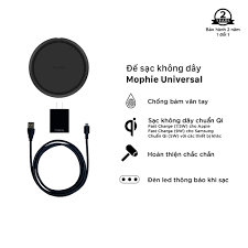 Đế sạc không dây Mophie Universal BLK - Hàng Chính Hãng