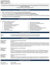 Resume Sample For Internship