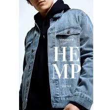 Mens Spring Denim Jacket Mdj Pw3000396 Hemp Hoodlamb