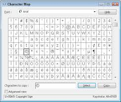Microsoft Word Wingdings Chart How To Insert Special Characters With Windows 7 Character