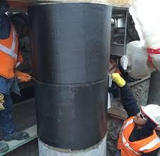 gas plant uses carbon fiber reinforced polymer wrap to strengthen concrete columns