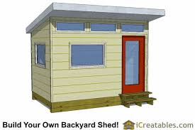 office shed plans. 8x12 Modern Studio Shed Plans Office