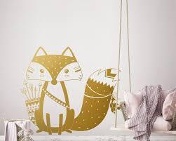 home décor tribal fox wall decal