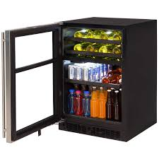 wine and beverage center. Wonderful Wine ML24WB Marvel Dual Zone Wine And Beverage Center  Left Hinge Throughout And C