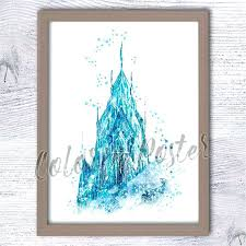 frozen wall decor decorating kit poster castle print